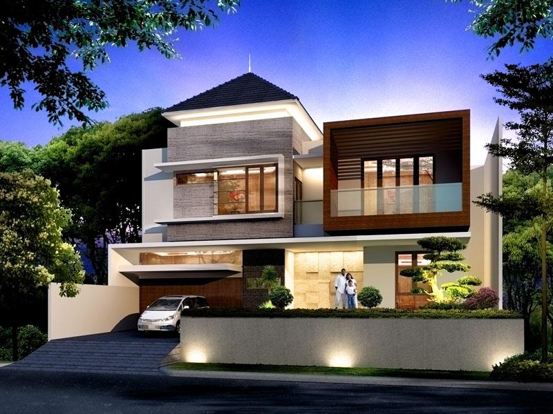 75 Contoh Desain Rumah Minimalis 2 Lantai Yang Nampak Mewah Dan Modern