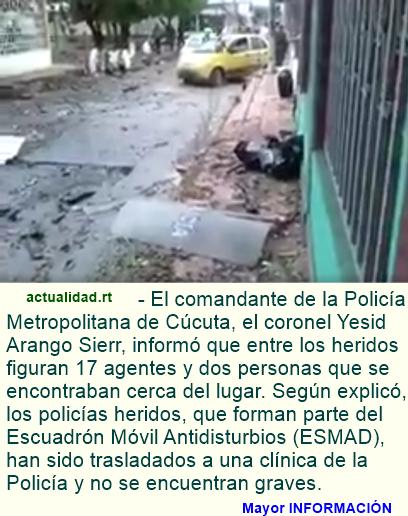 Video: Un atentado en Colombia deja 19 heridos