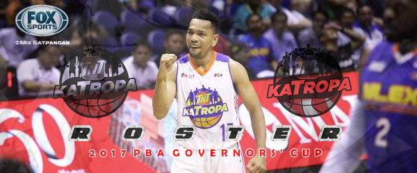 List of TNT Katropa Roster 2017 PBA Governors' Cup