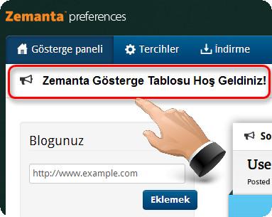 Zemanta Preferences Panel Ayarları