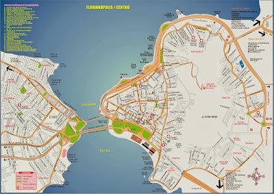 Mapa do centro de Florianópolis