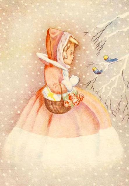 Image vintage femme hiver