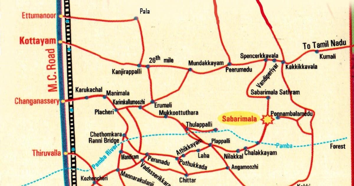 Sabarimala Route Map Route map to sabarimala   സബരിമല യിലേക്കുള്ള