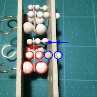 固定する木球