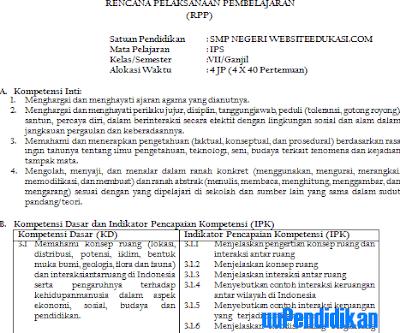 RPP IPS Kelas 8 SMP/MTs K13 Revisi 2018