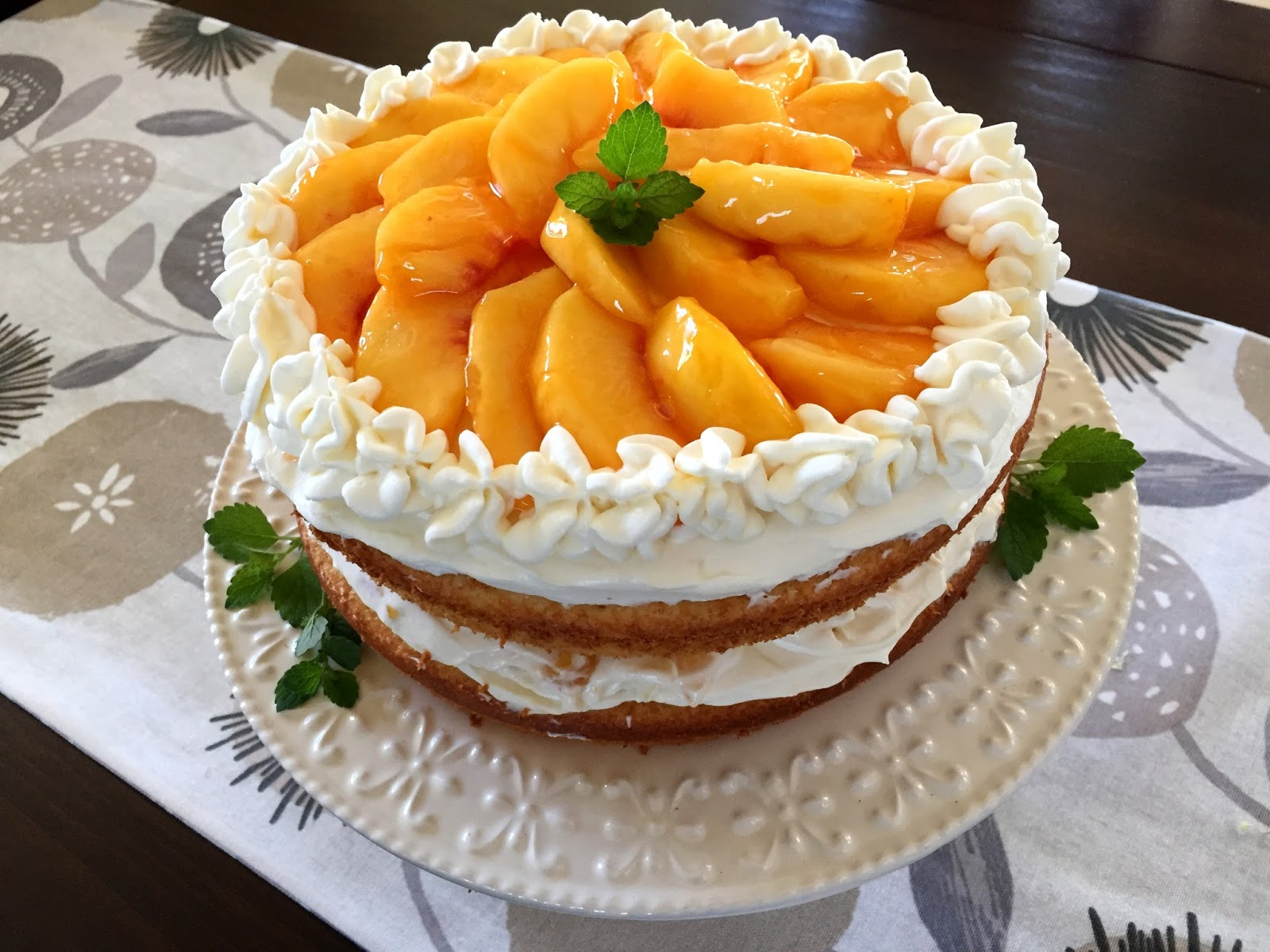 Mennonite Girls Can Cook Peaches And Cream Layer Cake