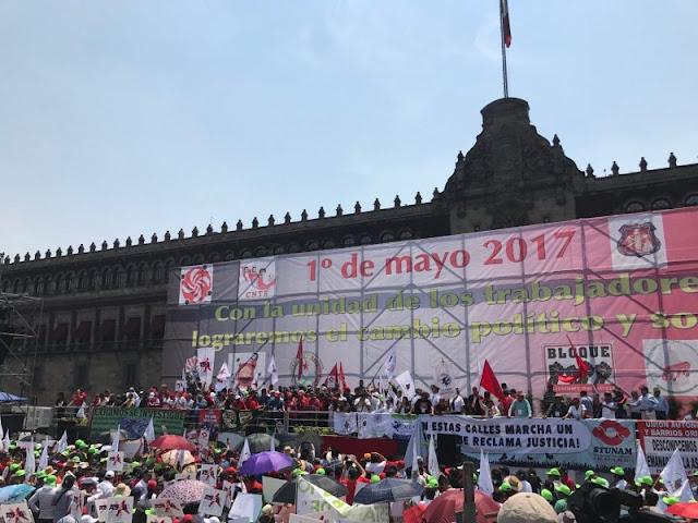 1 De Mayo.. Trabajadores mexicanos exigen derogar reformas de EPN
