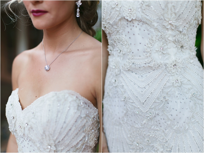 Beaded Wedding Dress | Rancho Las Lomas Wedding Inspiration by Damaris Mia Photography
