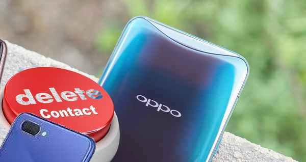 delete contact OPPO smartphone
