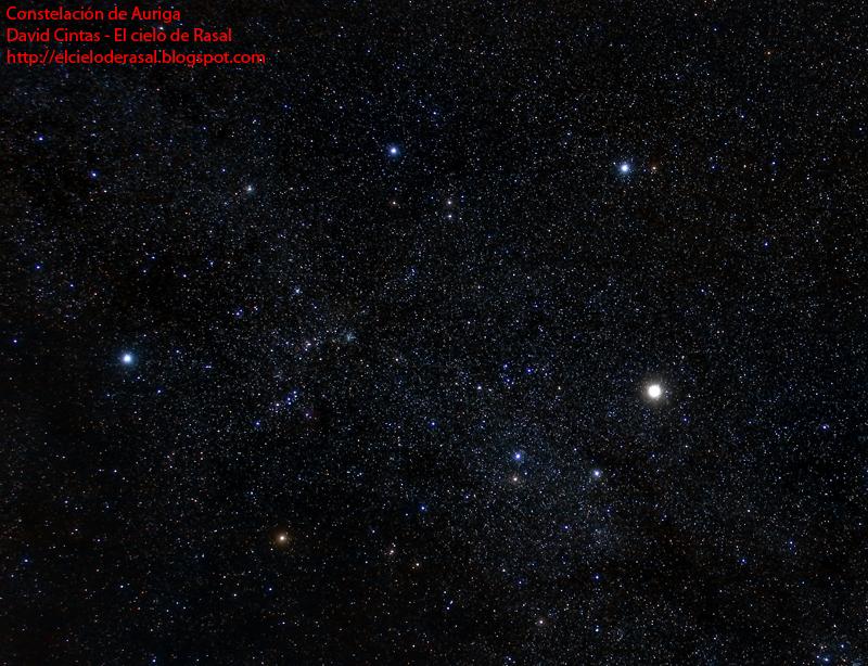 Auriga constelacion - El cielo de Rasal