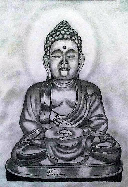 PENCIL DRAWING - Gautama Buddha