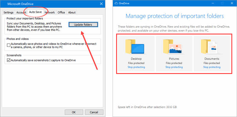 Here's how to enable the folder protection feature in OneDrive by automatic taking backup of user data folders like Desktop, Documents and Pictures