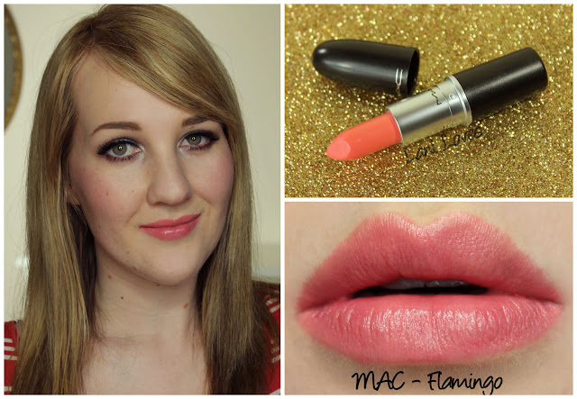 MAC Flamingo lipstick swatch