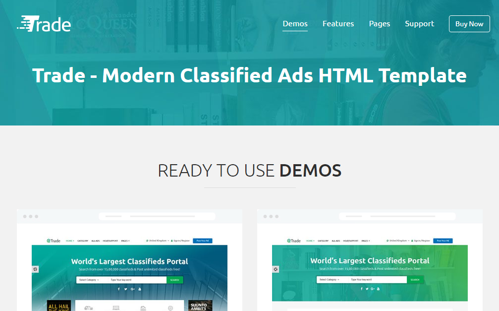 Trade modern classified ads html template free premium template feature overview based on bootstrap 3xhtml5 css37 different homepage100 responsivefont awesome 470clean and creative designcss3 animations and maxwellsz