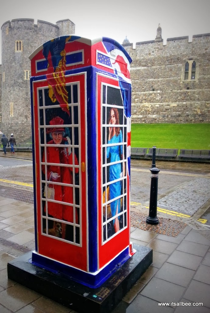Windsor Castle | A Royal Weekend Phone Box Kate Middleton