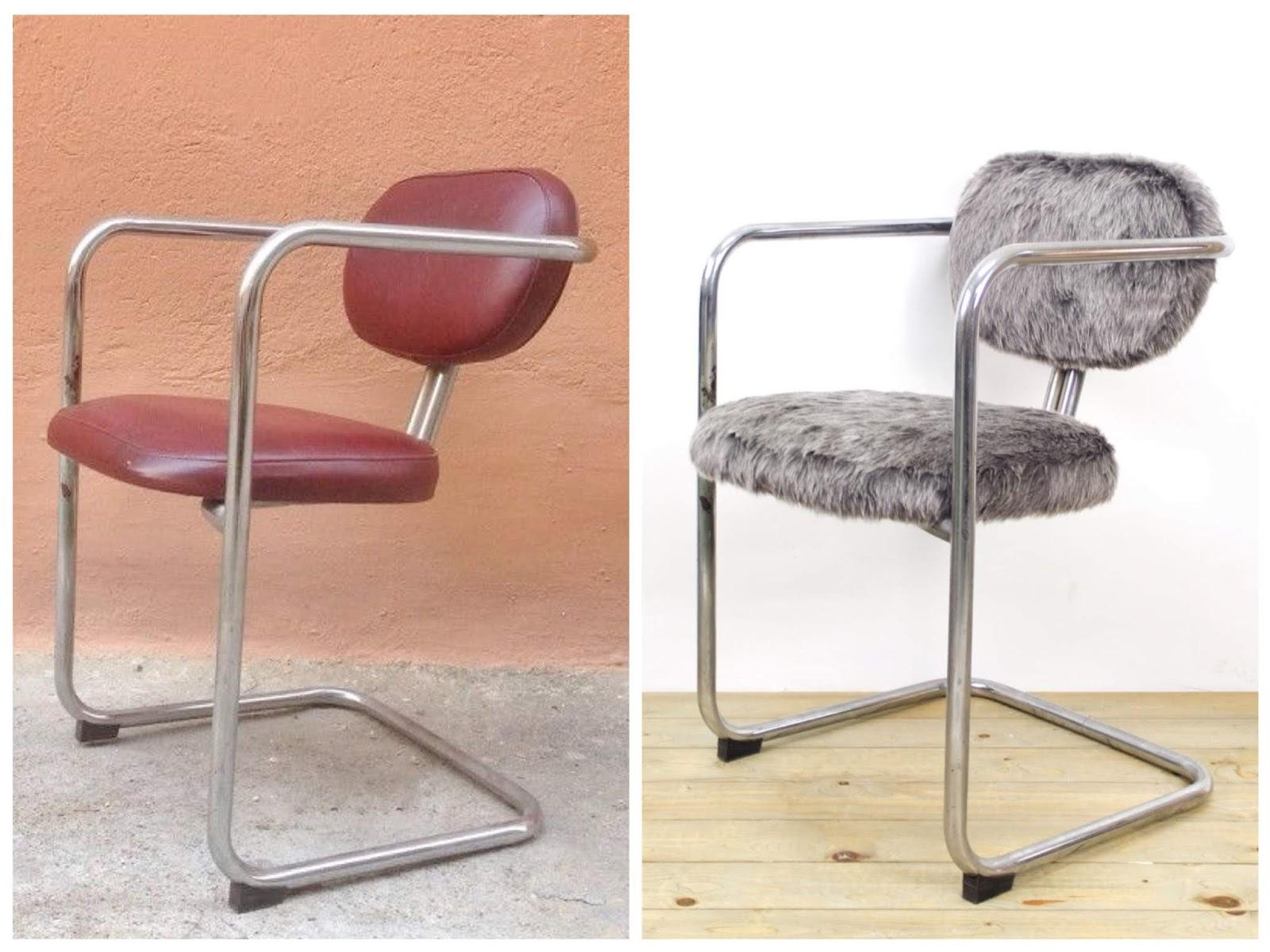 Antes y después - Silla tapizada con pelo sintético - Studio Alis
