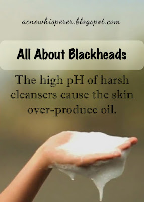 The high pH of harsh cleansers cause the skin to over-produce oil.  Find out more on the Acne Whisperer Blog.