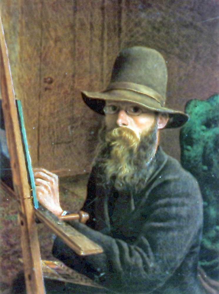William G.R. Hind, Self Portrait, Portraits of Painters, Fine arts, Painter William G.R. Hind