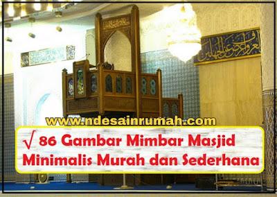 gambar mimbar masjid minimalis murah