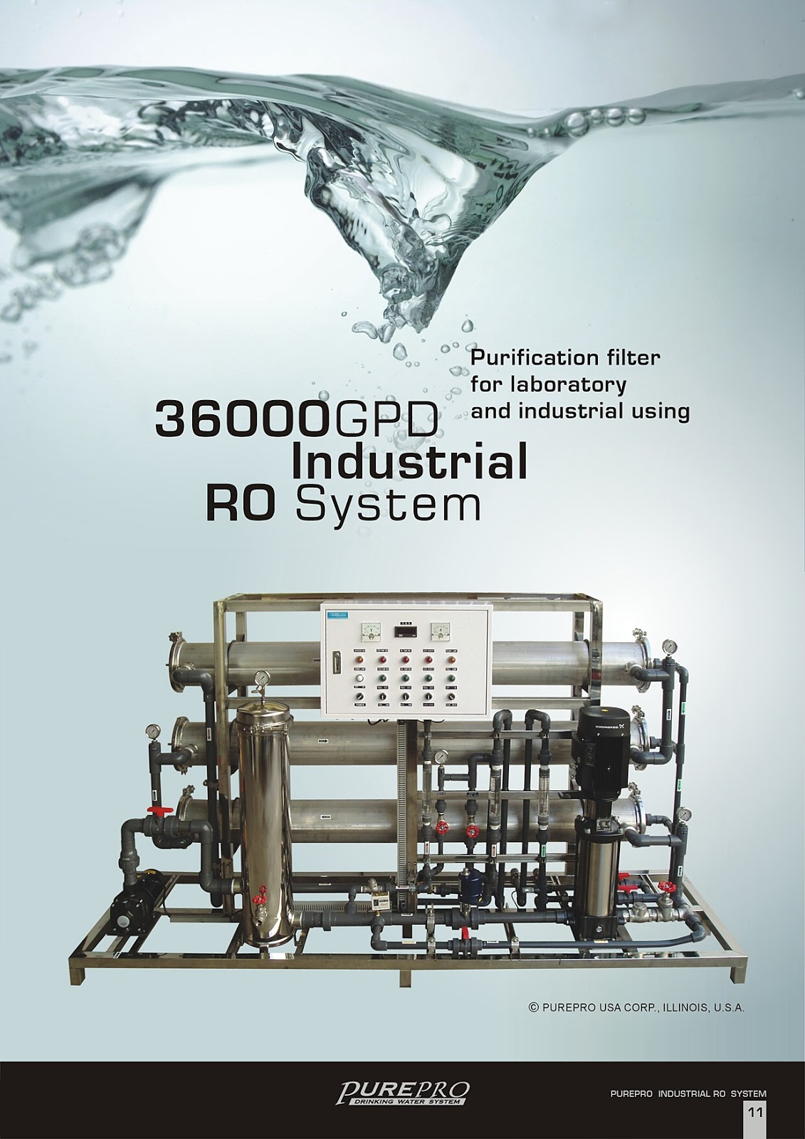 PurePro® RO36000 Industrial Reverse Osmosis Water Filter System