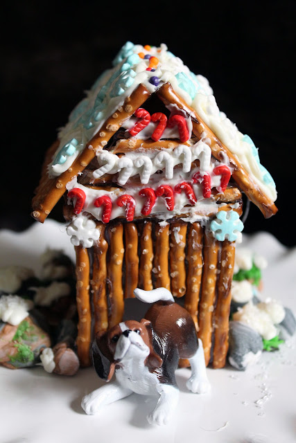 Worth Pinning Decorated Pretzel Cabins