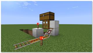 Minecraft トロッコ輸送 積み込み駅 複線 作り方①