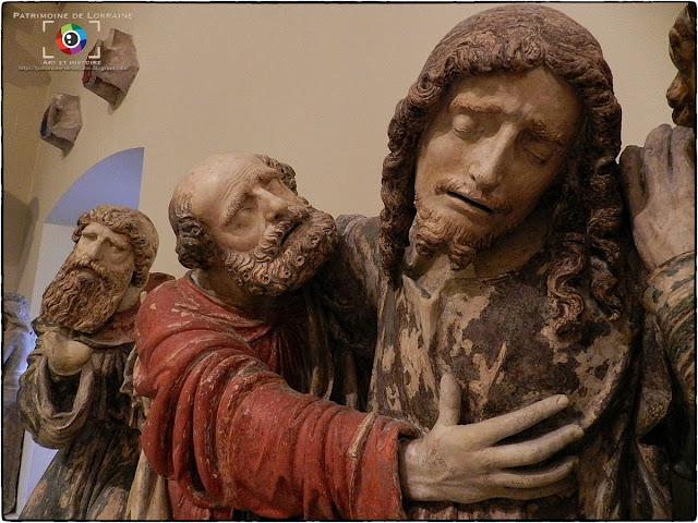 NANCY (54) - Musée lorrain : Le Christ au Jardin des Oliviers (XVIe siècle)