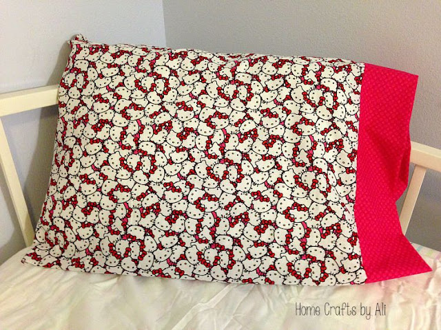 Quick Pillowcase finished and ready for a guest or gift