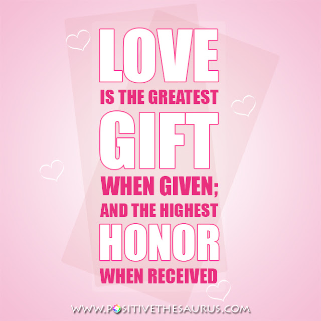love quotes love is the greatest gift pink