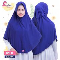 Hijab instan bergo syari jumbo bpl xl plain laura elektrik