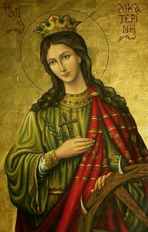 Η φορητή εικόνα της Αγίας Αικατερίνας   είναι δια χειρός «Freemonks»