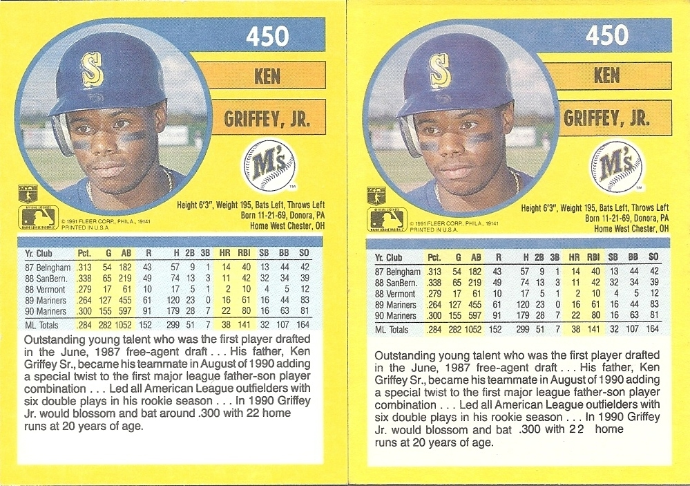 The Junior Junkie: the Baseball Cards of Ken Griffey, Jr  and Beyond