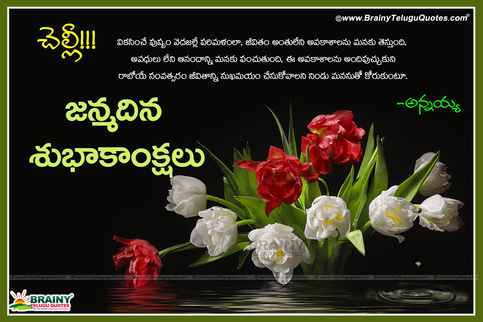 Happy Birthday Wishes Quotes In Telugu Puttina Roju