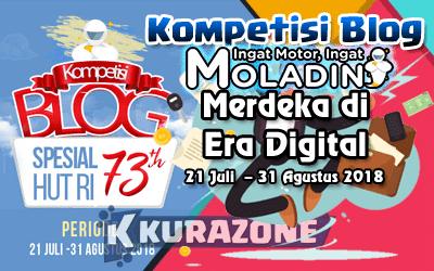 Kompetisi Blog - 17 Agustus Moladin Blog Motor Berhadiah Total 5,5 Juta Rupiah