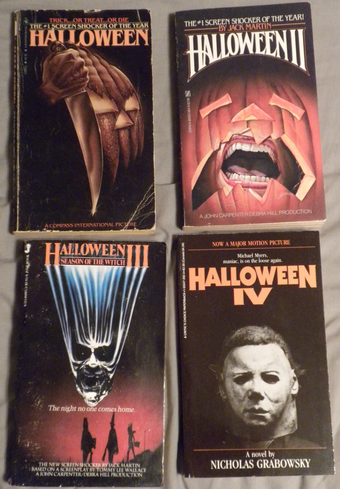 Halloween by curtis richards aka dennis etchison as seen in the above picture is a good example this one is likely one of the few novelizations based