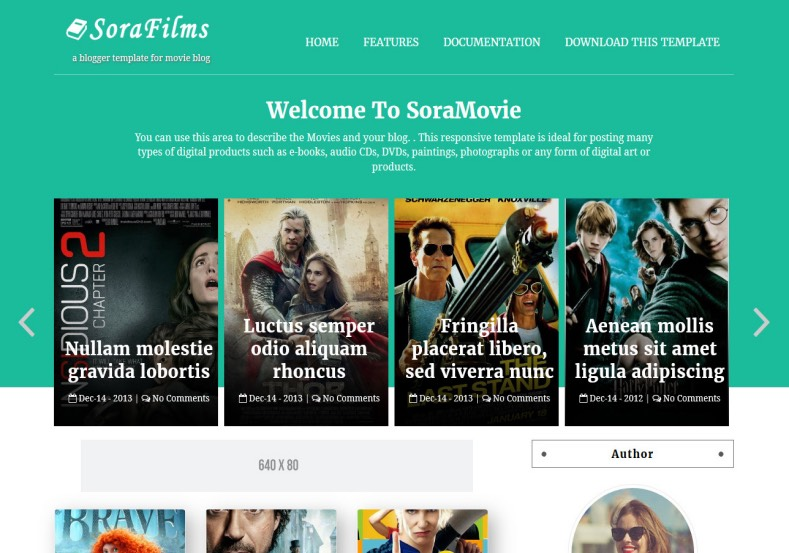 Sora Films Blogger Template | High Quality Free Blogger Templates