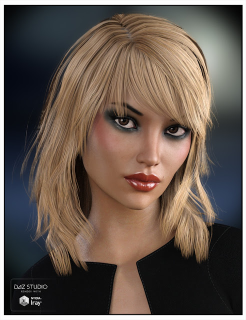Sally Hair for Genesis 3 Female and Genesis 2 Female