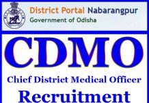 CDMO Nabarangpur Recruitment 2017