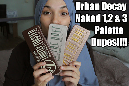 Urban Decay Naked Palette 1,2 & 3 dupes ft. W7 eyeshadow palettes