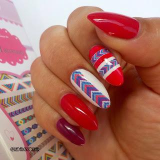 Red Polish Or Bad Polish Chevron Stripes With Born Pretty Store
