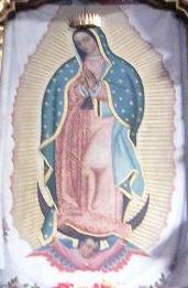 """Mariengemälde  """"Nuestra Señora de Guadalupe"""" mit Aura"""