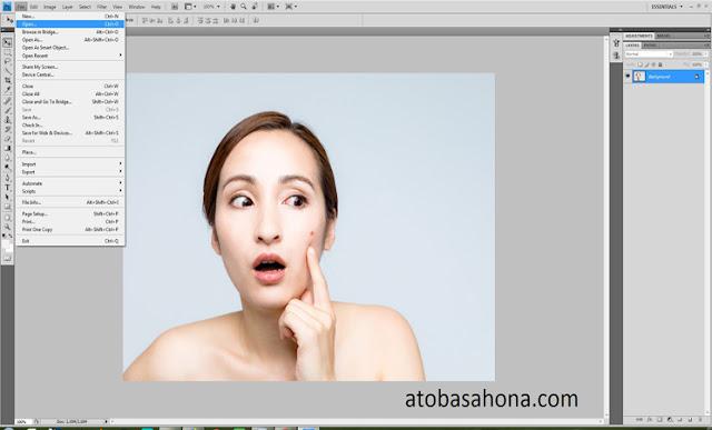 Menghilangkan Jerawat Dengan Photoshop