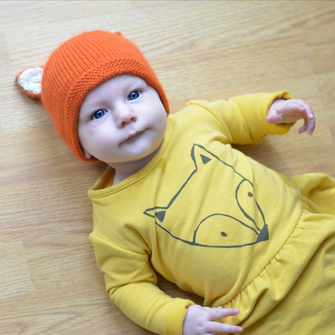 dapperbaby.co.uk, iglo & indi, fox dress, fox baby clothes