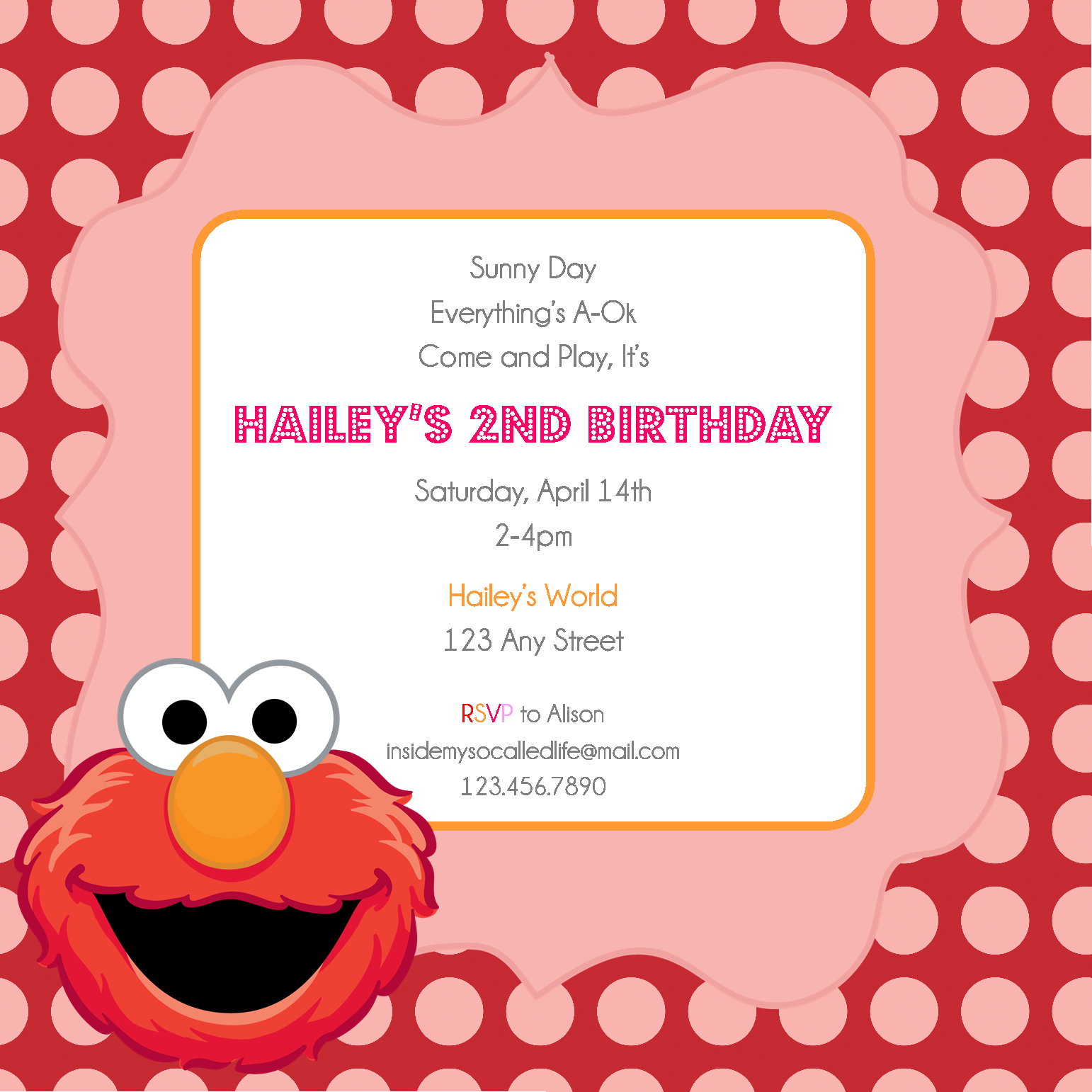 28+ [ Elmo 1st Birthday Invitation Templates ] | Elmo Birthday Invitations Template,Elmo ...