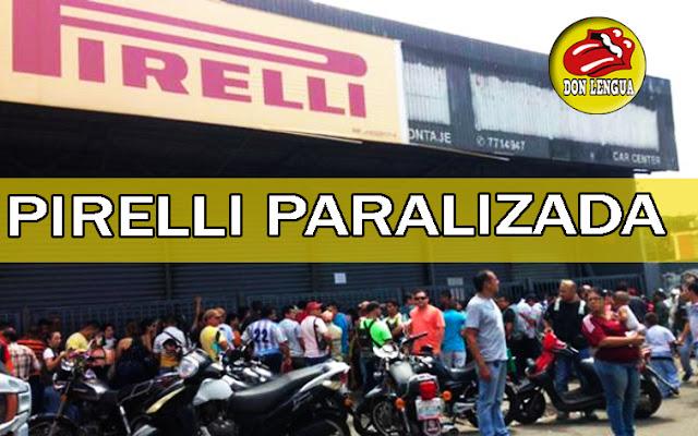 PIRELLI paralizó sus actividades en Venezuela por falta de materia prima