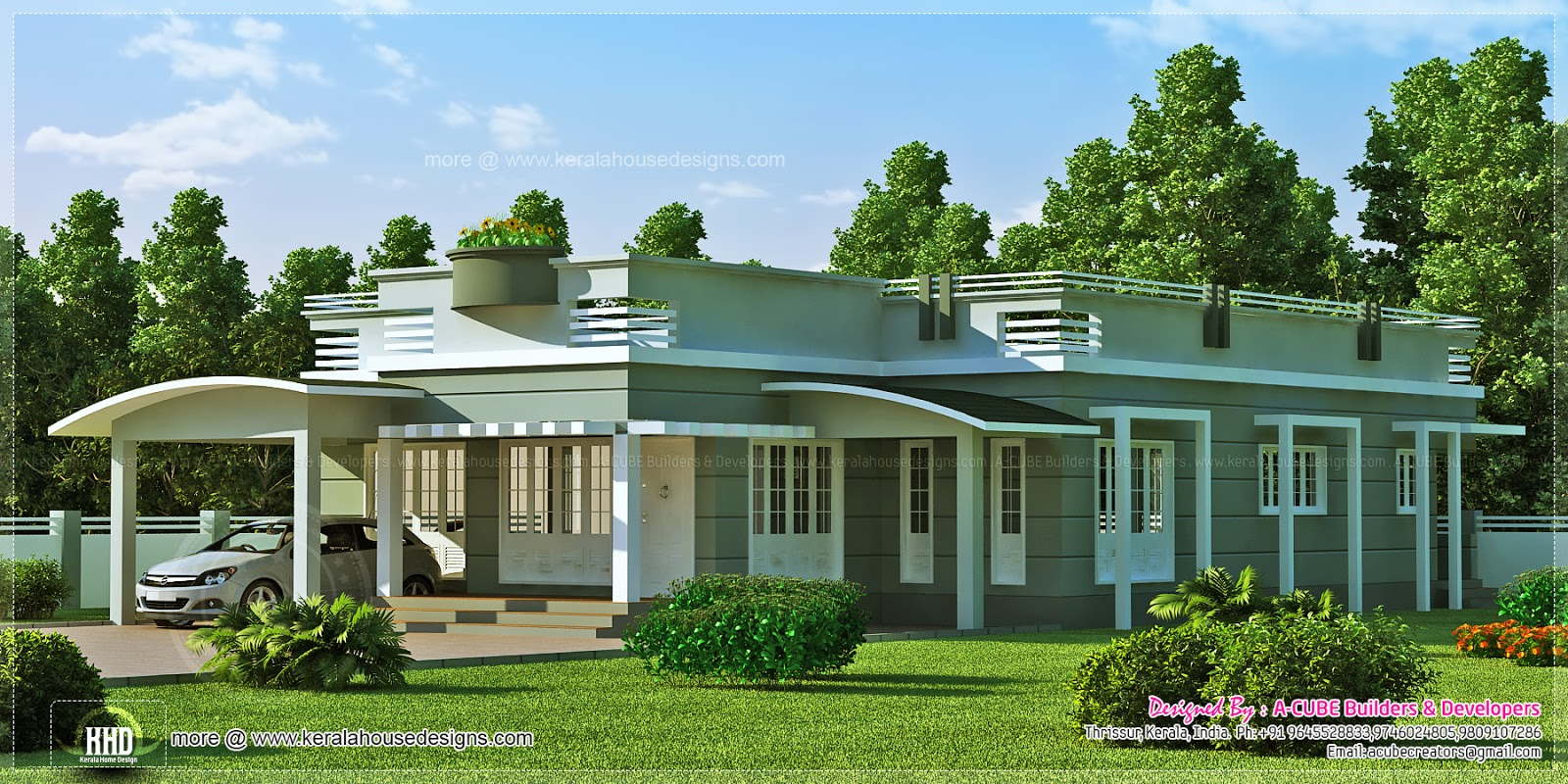 2073 Square Feet Single Floor Villa Kerala Home Design