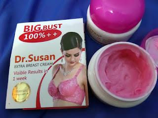 Bentuk isi cream payudara dr susan yang berwarna pink kemerahan alami tidak pucat