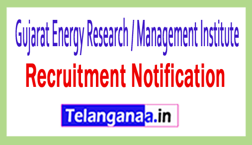 Gujarat Energy Research / Management Institute GERMI Recruitment