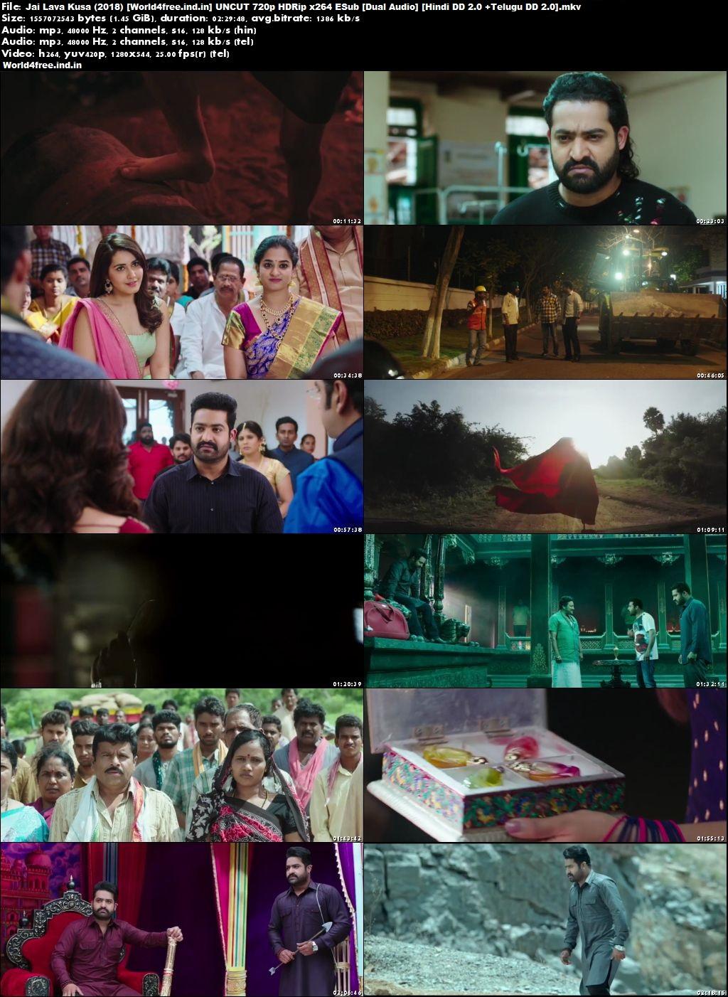 Jai Lava Kusa 2017 world4free.ind.in Hindi Dubbed Movie Download HDRip 720p Download