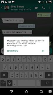 menarik pesan Whatsapp yang terkirim